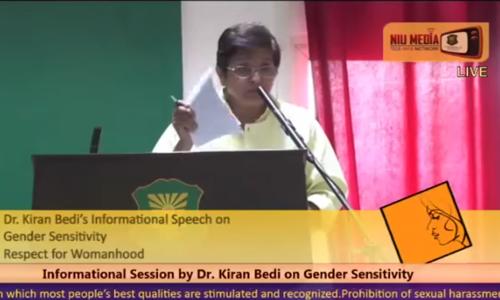 NIU Seminar on Gender Sensitivity Dr Kiran Bedi